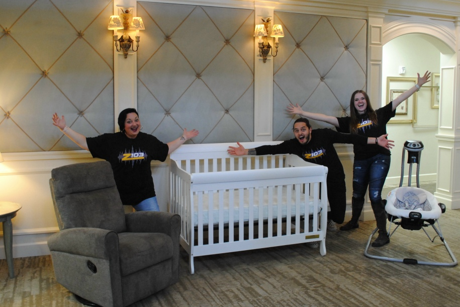Grand Prize Crib, dresser and swing.