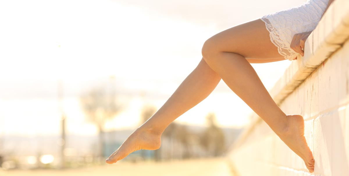 Laser Hair Removal in Idaho Falls - silky smooth legs dangling.